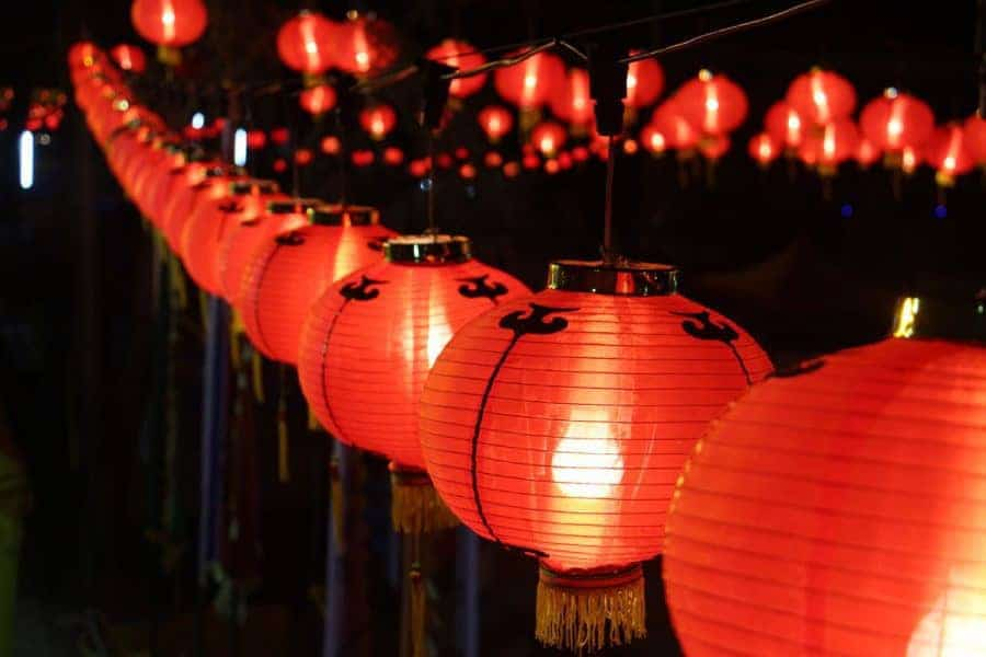 Lanterns for Tet Festival in Vietnam.