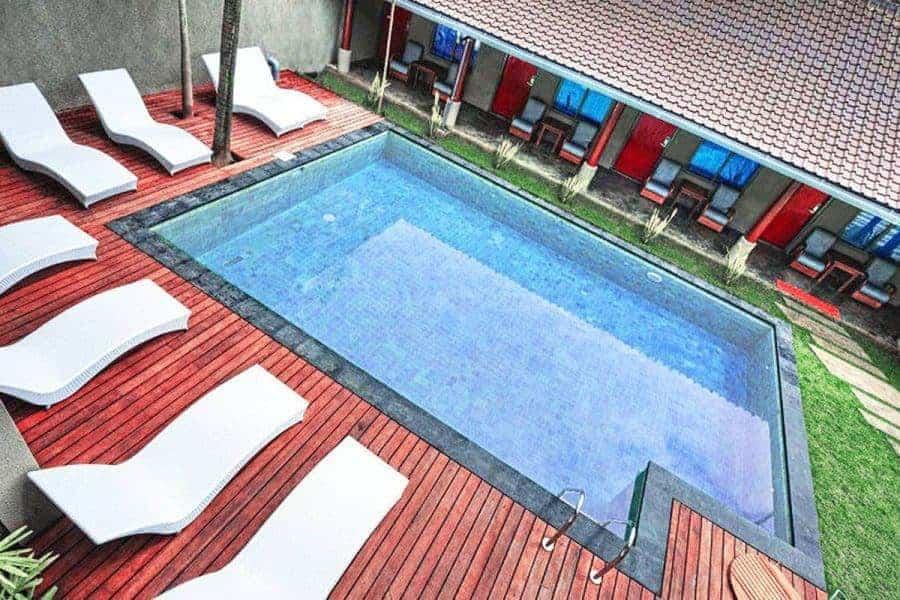 The pool at Kayun Hostel, Bali