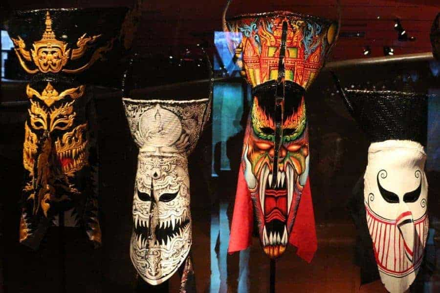 Masks used during Phi Ta Khon
