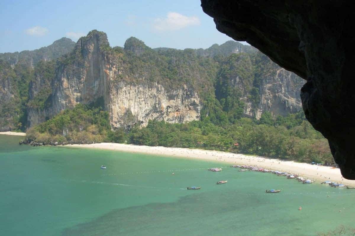 The jaw-dropping views in Railay Beach, Krabi, Thailand.