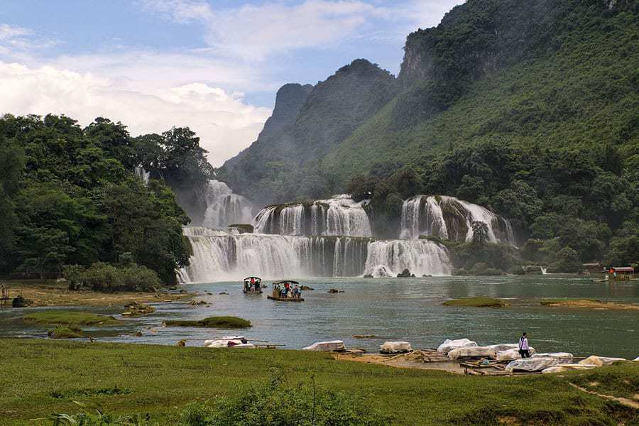 Ban Gioc Waterfall, Ha Giang Province, Northern Vietnam.