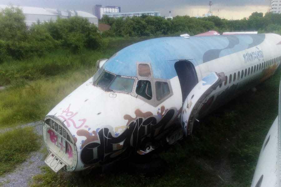 Aeroplane skeleton at Bangkok's Aeroplane Graveyard