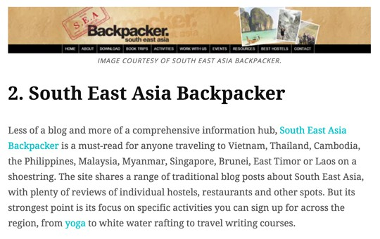 South East Asia Backpacker Featured in Epicure & Culture Magazine