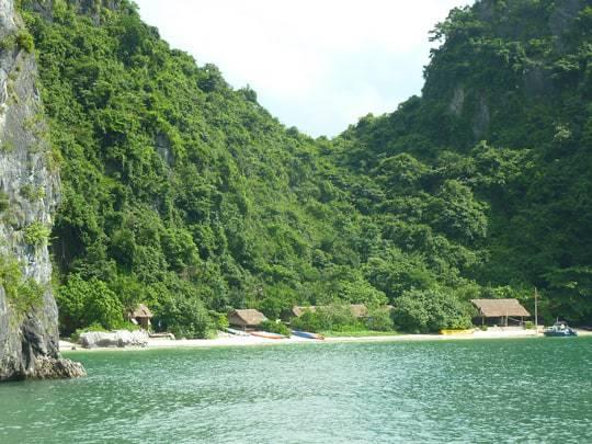First sight of Castaway Island