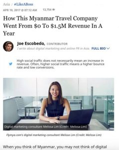 South East Asia Backpacker Featured in Forbes