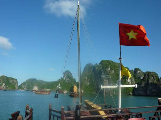 From the deck of the Jolly Roger, Halong Bay