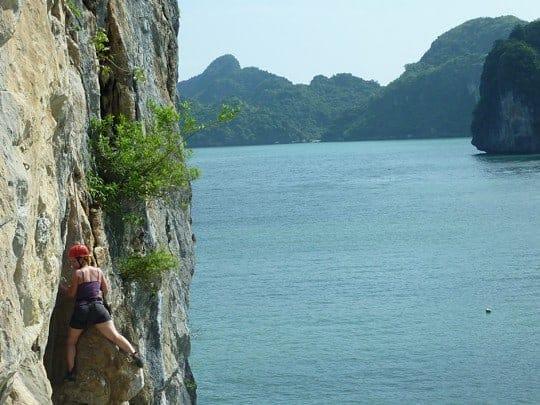 Rock Climbing in Cat Ba National Park