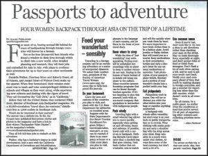S.E.A Backpacker Magazine in The Sacramento Bee