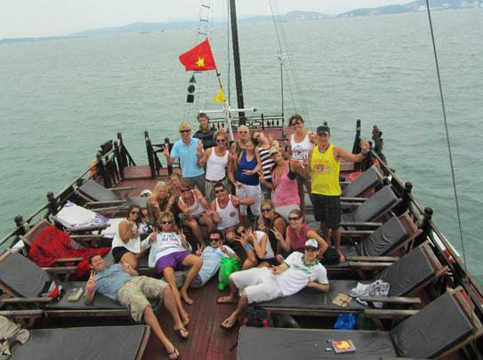 The Group from Hanoi Backpackers Hostel