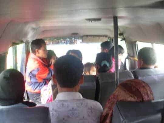 Chicken Bus in Indonesia