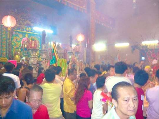 Chinese New Year in the Temple