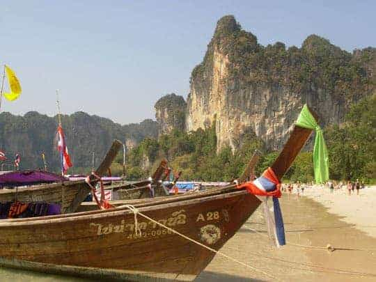 Long Tail boats in Railay Beach