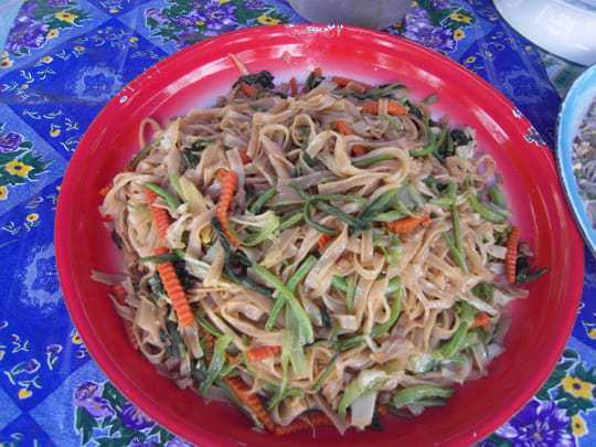 Noodles for breakfast in South East Asia