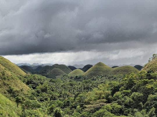 The Chocolate Hills in Bohol Fernan Archilla