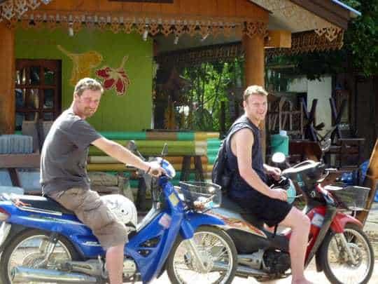 Renting a motorbike