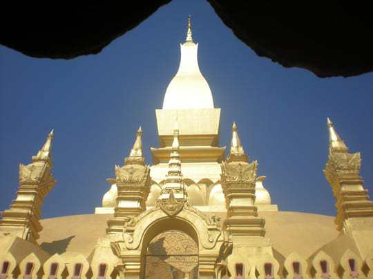Top of a stupa Vientiane