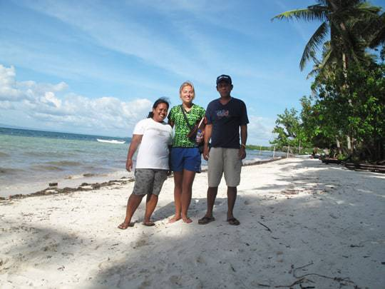 Meeting some of the guesthouse owners for FlipFlop Tours