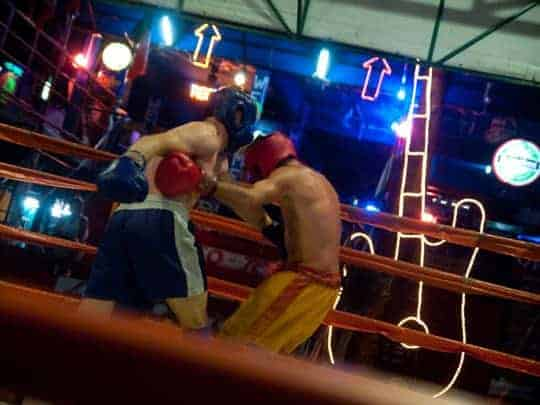 Shooting Muay Thai Boxing in Chiang Mai, Thailand