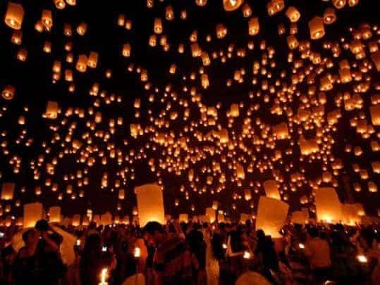 Yi Peng Lantern Festival at Mae Jo Chiang Mai