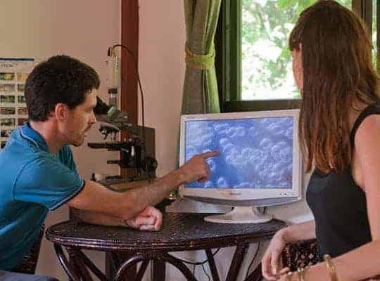 Kimmana at computer