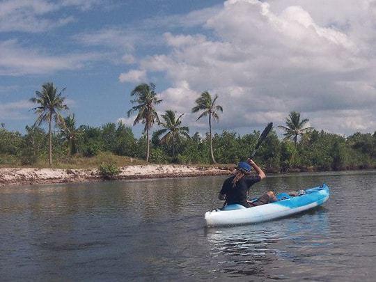 Kayaking along the scenic coast of Chumphon.