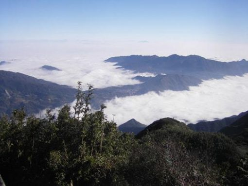 Views of Vietnam's wild countryside from the Fansipan trail