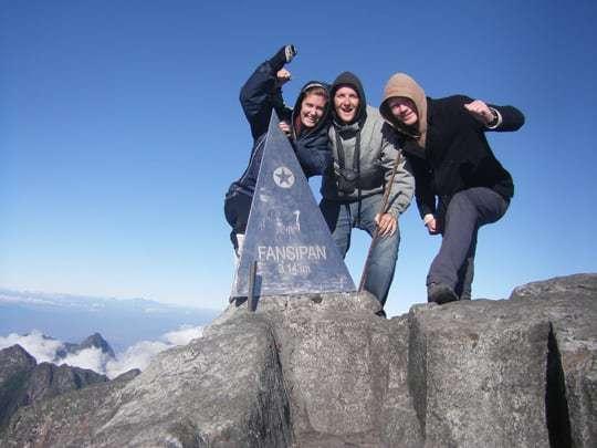 Finally, on the peak of Mount Fansipan!