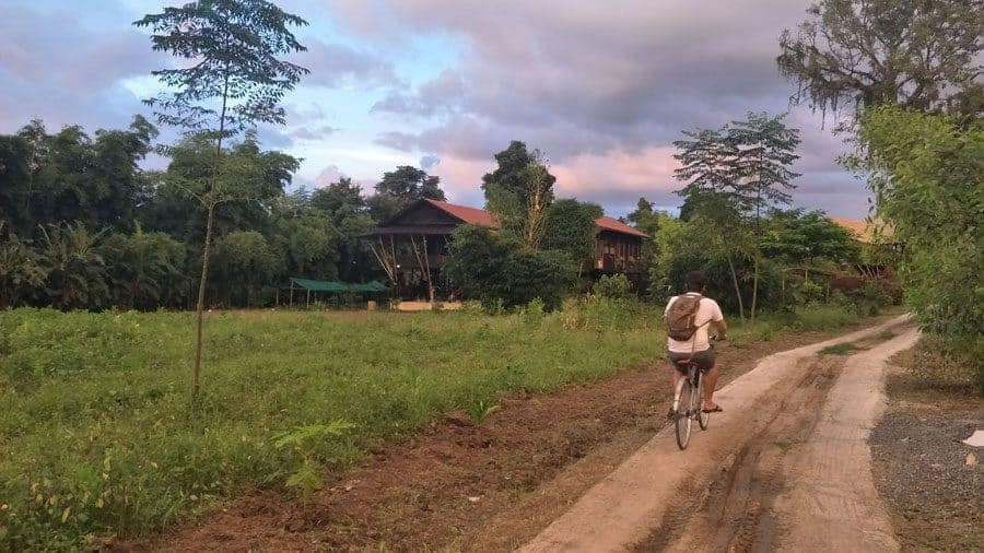 Cycling to the Little Eco Lodge, Inle Lake, Myanmar.