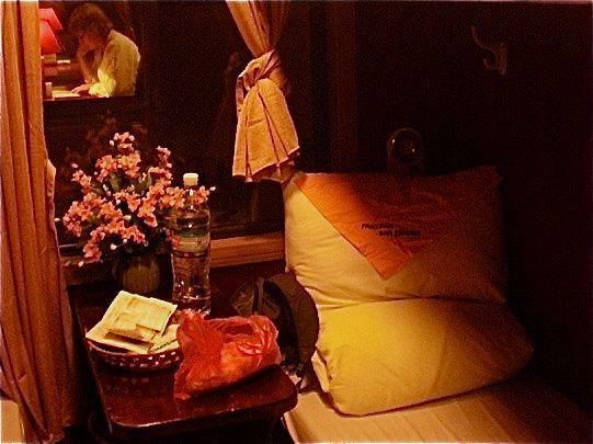 The cute little cabins on Vietnam Railways