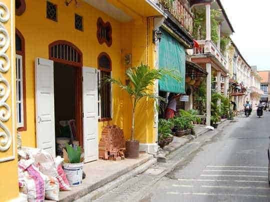 Colouful houses in Phuket Old Town
