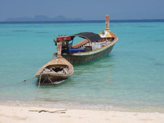 Two Boats on the Water in Tarutao National Marine Park, Thailand