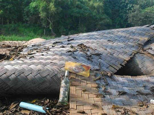 Demolished Bars along the Namsong River Vang Vieng