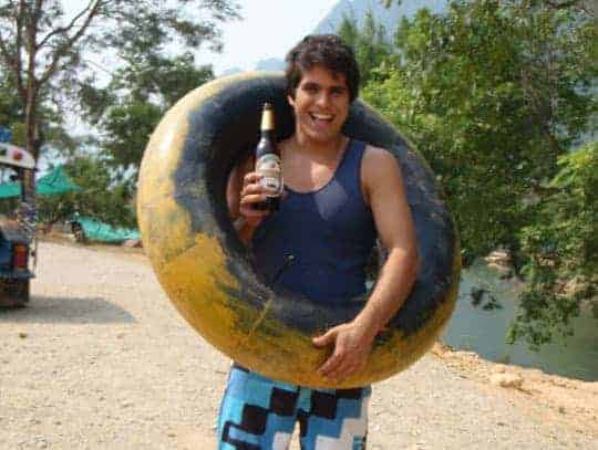 A Tuber in Vang Vieng ready for action!
