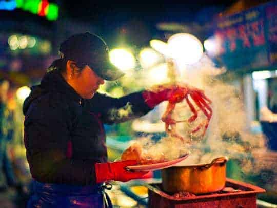 Street food in Seoul, South Korea.
