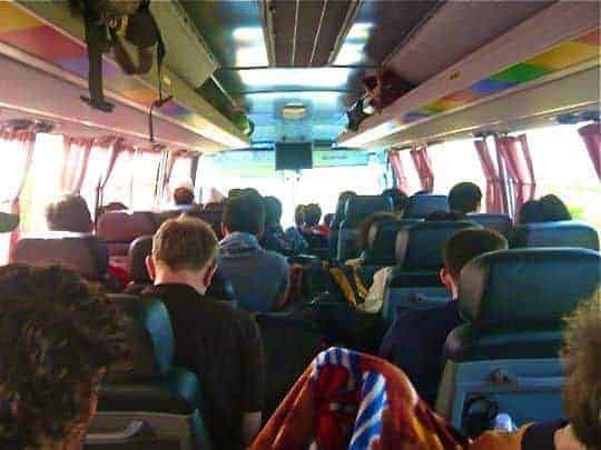 Bus ride in South East Asia