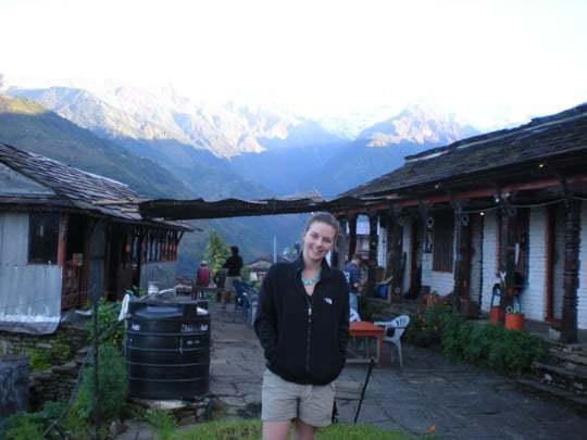 Me at the trekking lodge Nepal