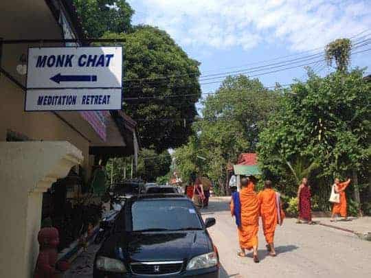 Monk Chat at Wat Suan Dok, Chiang Mai.