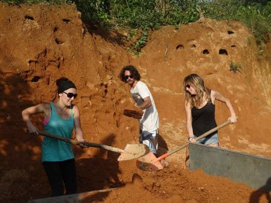 Conservation work Vang Vieng