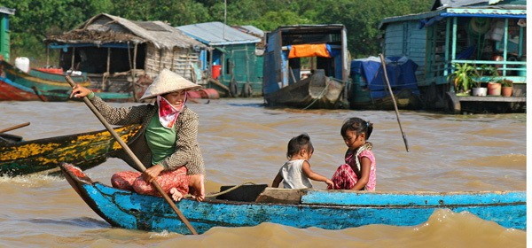 Life on the floating village, Siem Reap, Cambodia