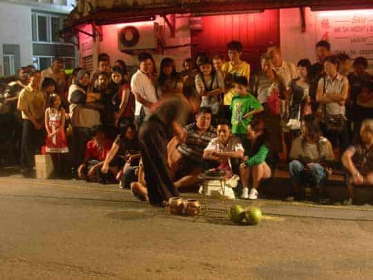 Street performer Melaka