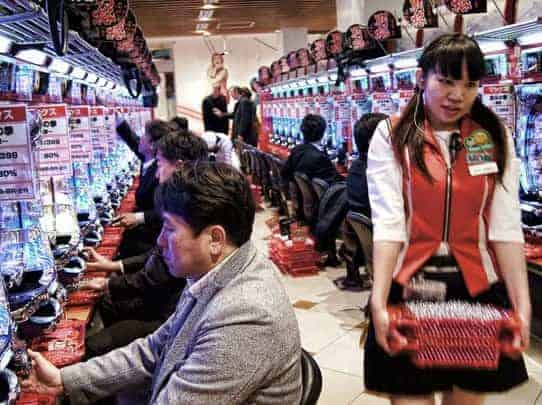 Japan pachinko machines article