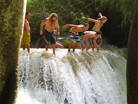 Waterfall Jumping Free & Easy Traveler