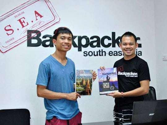 Regin visits the SEA Backpacker office