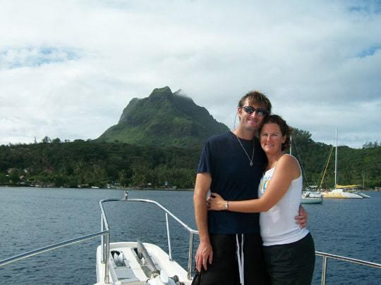 Sailing coastguard couple