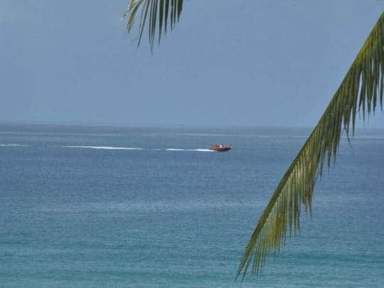 A Speedboat on the Water in Koh Kood