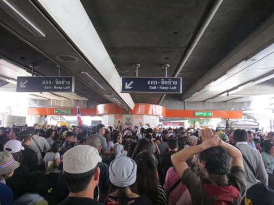 Bangkok Protests Skytrain
