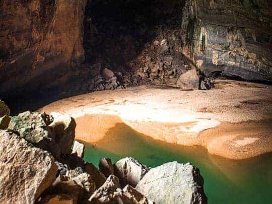 Inside Phong Nha Cave.