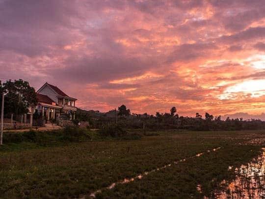 Sunset at Phong Nha Farmstay