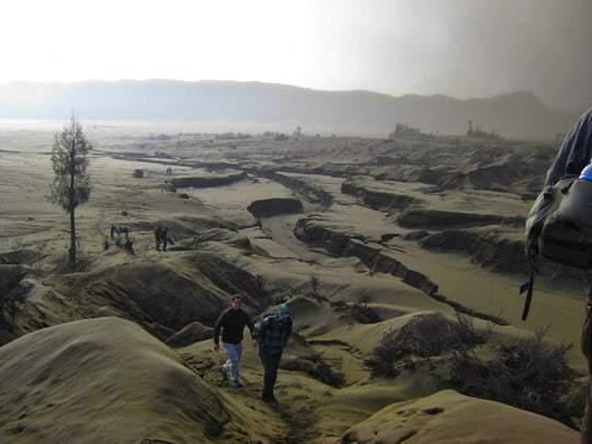 Trekking up the ash desert edit
