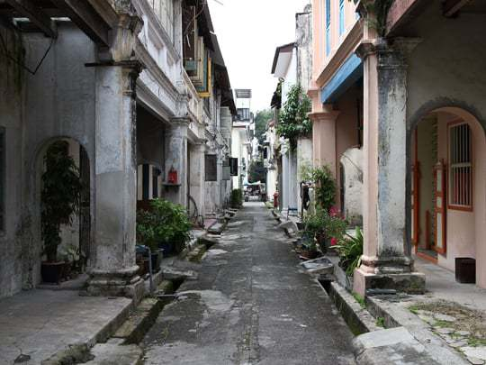 Colonial street Ipoh Malaysia
